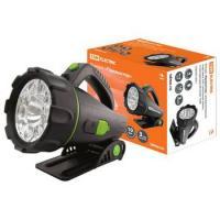 """Фонарь Прожектор"""", аккумуляторный, подставка, 6 Вт галогенная лампа, 9 светодиодов  80 лм/Вт  TDM"""""""