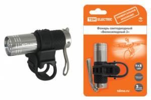 """Фонарь светодиодный Велосипедный 2"""" с креплением, 9 LED, 30 лм/Вт, 3*AAA TDM"""""""