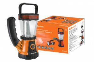 """Фонарь светодиодный Кемпинг 4"""" аккумуляторный, 24+19 LED, 44 лм/Вт, 3 режима с поворот. ручкой, TDM"""""""