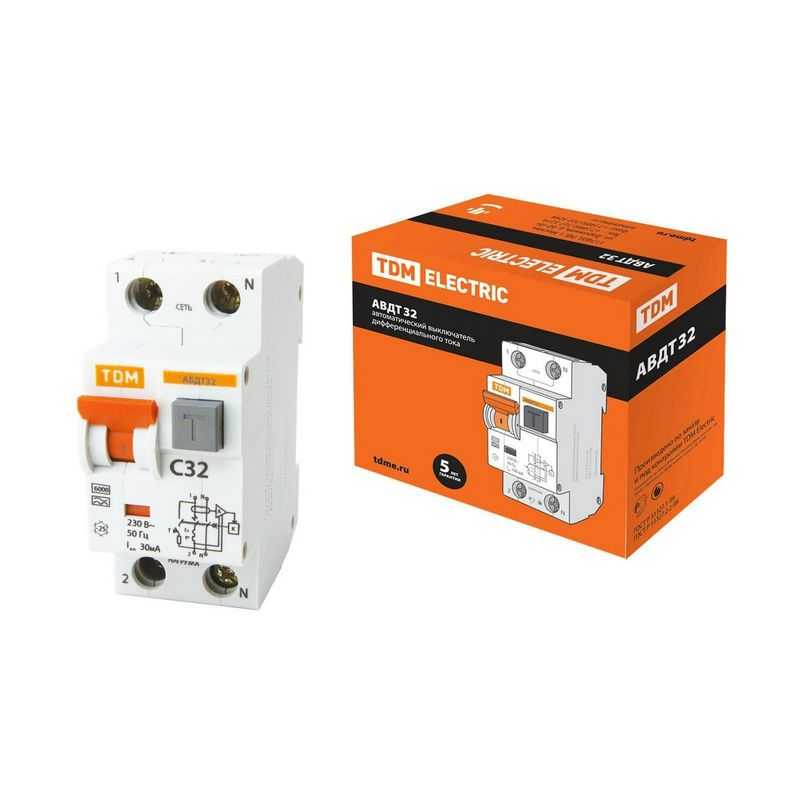 Автоматический Выключатель Дифференциального тока - АВДТ 32 C32 30мА TDM