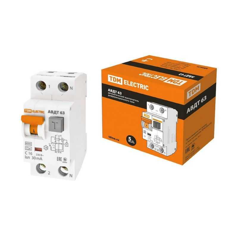 Автоматический Выключатель Дифференциального тока - АВДТ 63 C16 30мА TDM