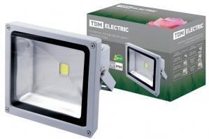Прожектор светодиодный СДО30-1 30Вт, серый, TDM