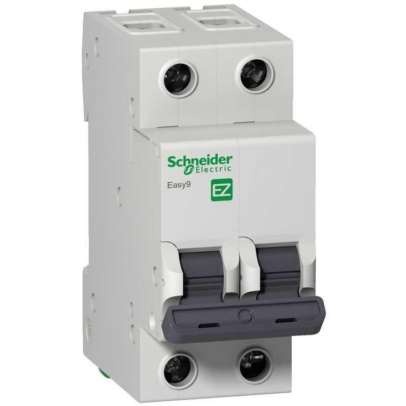 Автоматический выключатель EASY 9 2П  6А 4,5кА С Schneider Electric