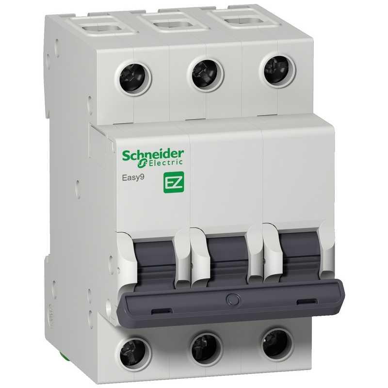 Автоматический выключатель EASY 9 3П 10А 4,5кА С Schneider Electric