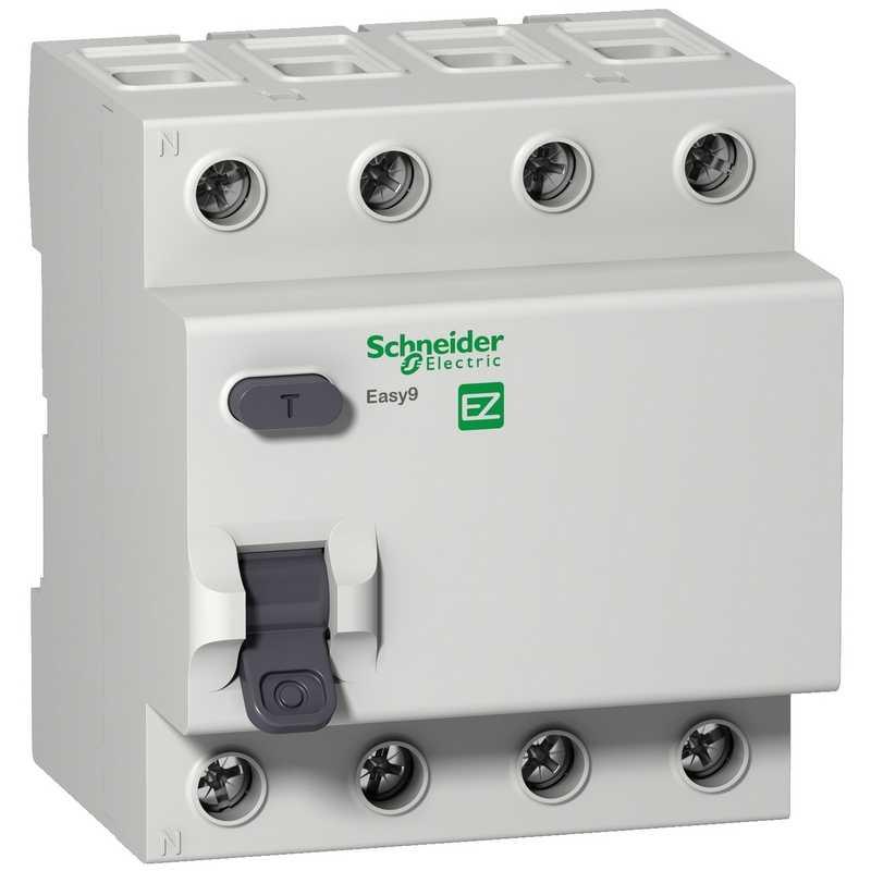 Дифф. выкл. нагрузки EASY 9 4П 25А/30мА АС Schneider Electric (УЗО)