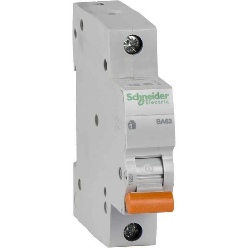Автоматический выключатель 1P 10А BA63 4,5kA С Schneider Electric Домовой