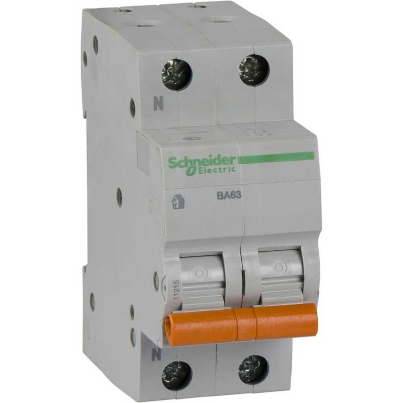 Автоматический выключатель 1P+N 25А C BA63 4,5kA  Schneider Electric Домовой