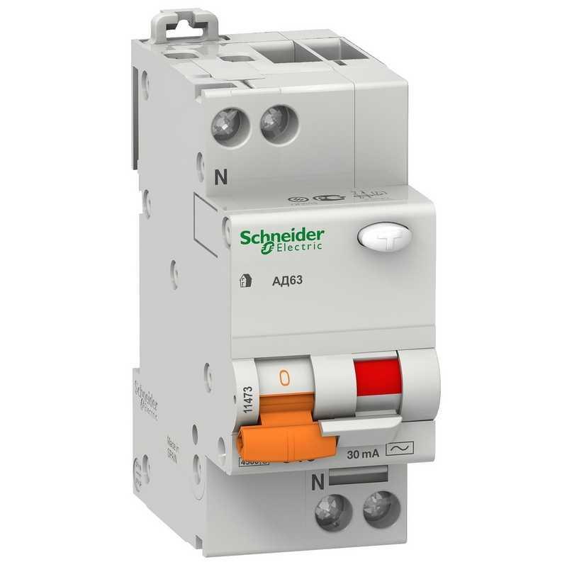 Дифф. автомат. выкл. АД63 1П+Н 40A/30мА Schneider Electric Домовой