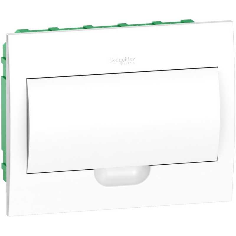 Распределительный пластиковый щит Easy9 Box встраиваемый 1ряд 12мод. (с белой дв.)