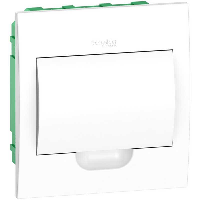 Распределительный пластиковый щит Easy9 Box встраиваемый 1ряд 8мод. (с белой дв.)
