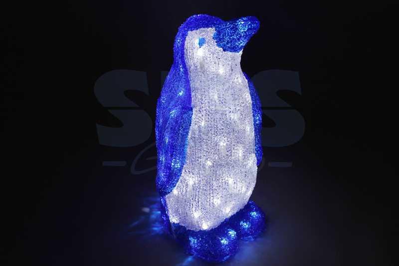 """Акриловая светодиодная фигура Пингвин"""" 50 см,100 светодиодов, IP44 понижающий трансформатор в комплекте"""""""