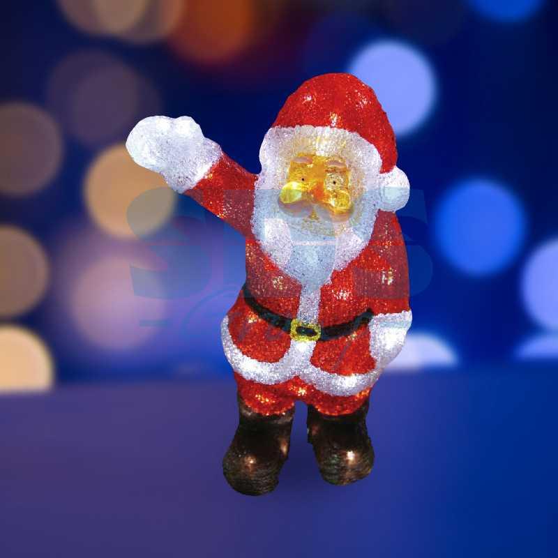 """Акриловая светодиодная фигура Санта Клаус приветствует"""" 30 см, 40 светодиодов, IP44 понижающий трансформатор в комплекте"""""""