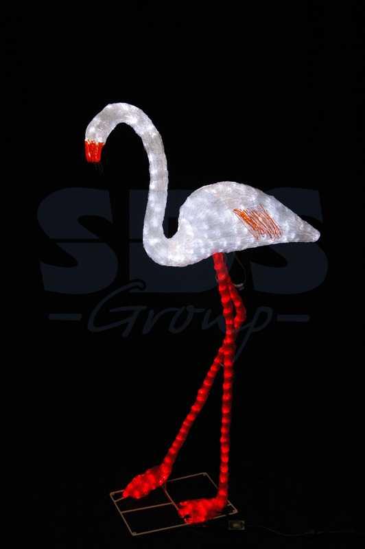"""Акриловая светодиодная фигура Фламинго"""" 130х70см, 464 светодиода, IP44 понижающий трансформатор в комплекте"""""""