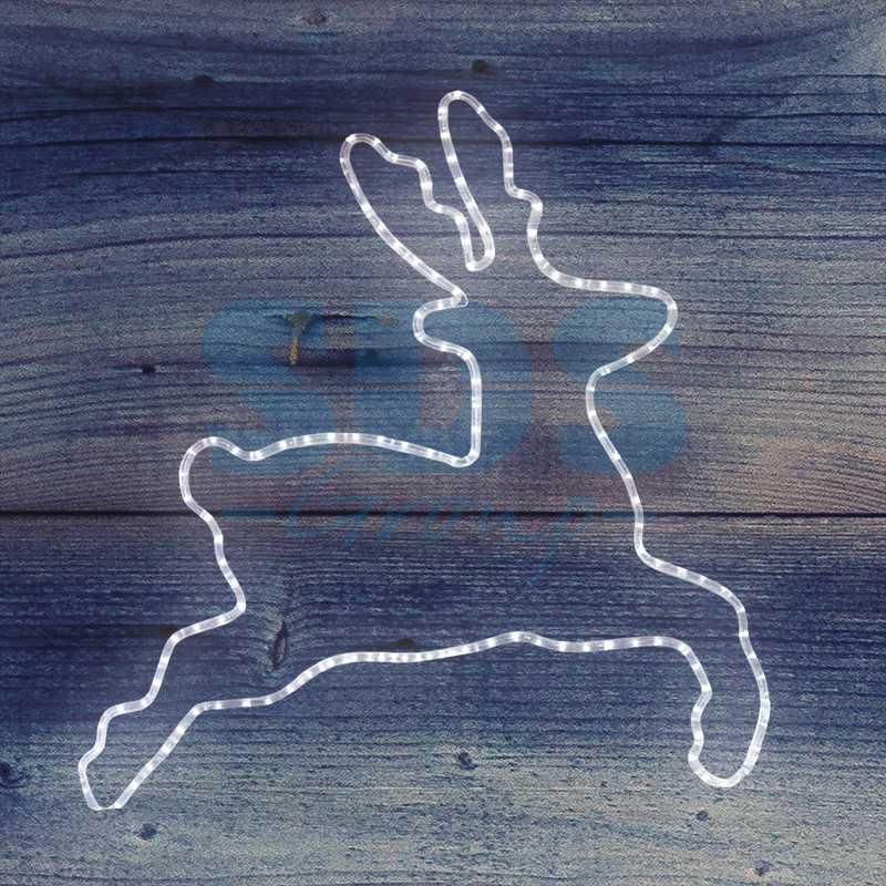 "Фигура Бегущий олень"" белый,  размер 87*84 см  NEON-NIGHT"""