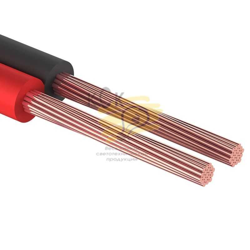 Кабель акустический, 2х0.25 мм2, красно-черный, 100 м.  PROCONNECT