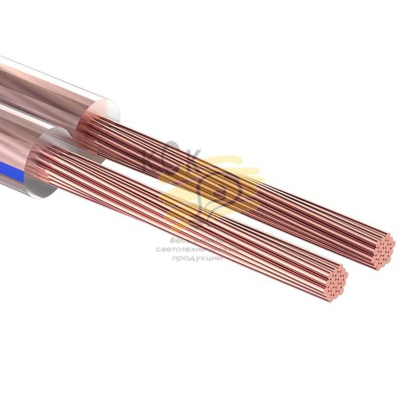 Кабель акустический, 2х1.00 мм2, прозрачный BLUELINE, 100 м.  PROCONNECT