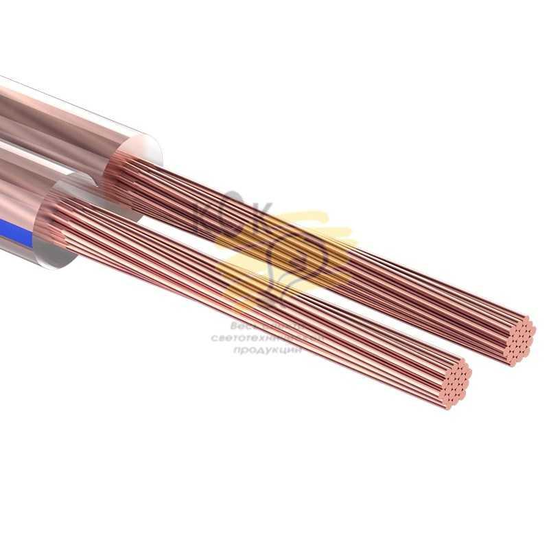 Кабель акустический, 2х2.00 мм2, прозрачный BLUELINE, 100 м.  PROCONNECT