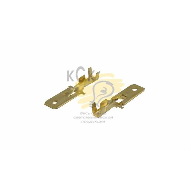 08-0911 КЛЕММА ПЛОСКАЯ (КП штекер - 6.3мм)  1-1.5мм2  (DJ611-6.3B)  REXANT электропродукция оптом, и розницу купить в Крыму, Симферополе, Севастополе магазин КСК, электрика в крыму