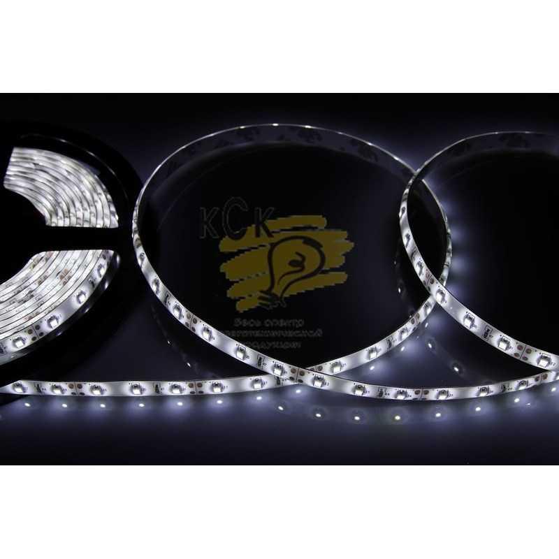 141-355 LED лента силикон, 8мм, IP65, SMD 3528, 60 LED/m, 12V, белая электропродукция оптом, и розницу купить в Крыму, Симферополе, Севастополе магазин КСК, электрика в крыму