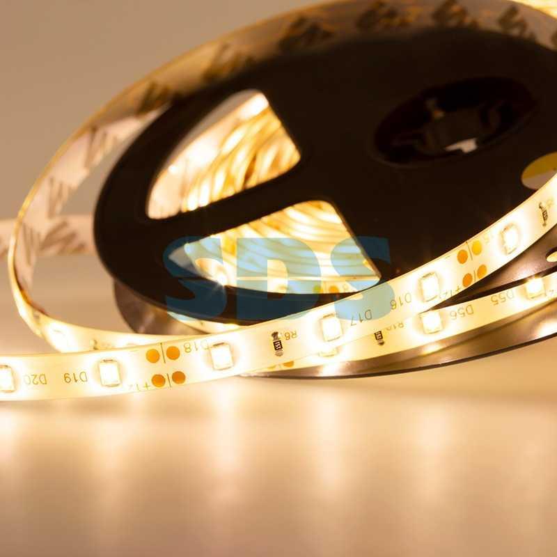 LED лента силикон, 8мм, IP65, SMD 3528, 60 LED/m, 12V, тепло-белая