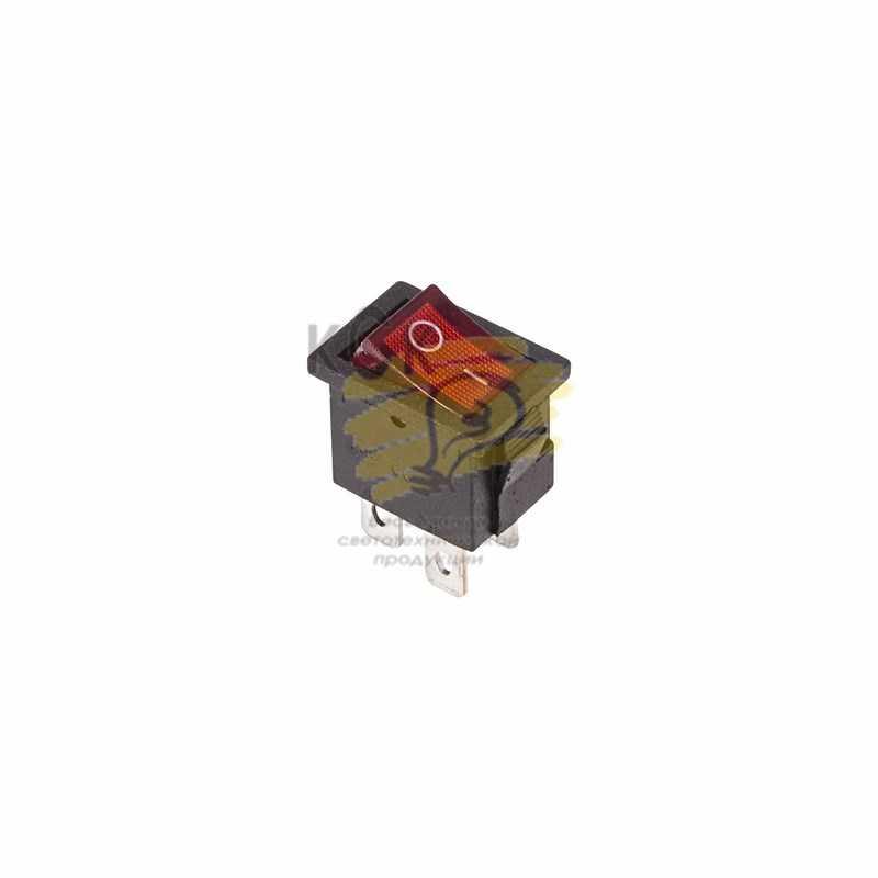 36-2190 Выключатель клавишный 250V 6А (4с) ON-OFF красный  с подсветкой  Mini  (RWB-207, SC-768)  REXANT электропродукция оптом, и розницу купить в Крыму, Симферополе, Севастополе магазин КСК, электрика в крыму