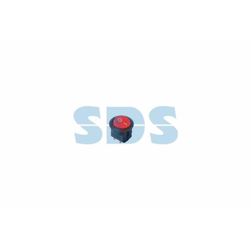 Выключатель клавишный круглый 250V 6А (2с) ON-OFF красный  (RWB-213, SC-214, MRS-102-8)  REXANT