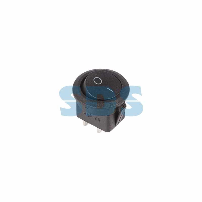 Выключатель клавишный круглый 250V 6А (2с) ON-OFF черный  (RWB-212, SC-214, MRS-102-8)  REXANT