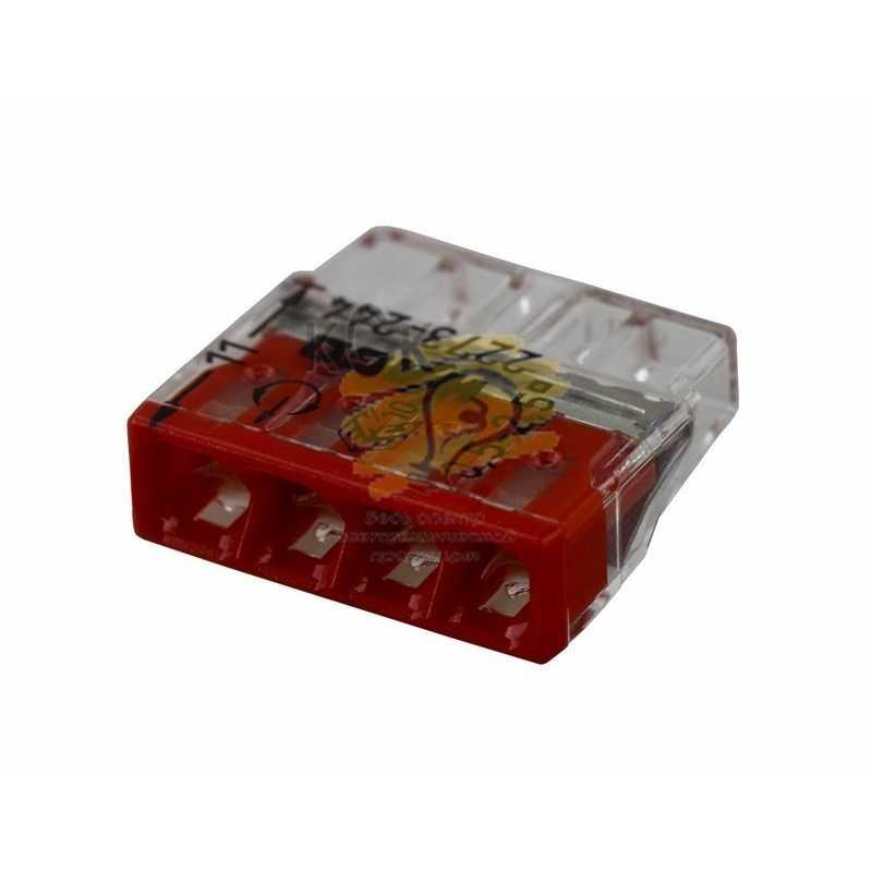 2273-244 Электромонтажные экспресс-клеммы   (4*2.5мм2 с пастой) 100шт  WAGO