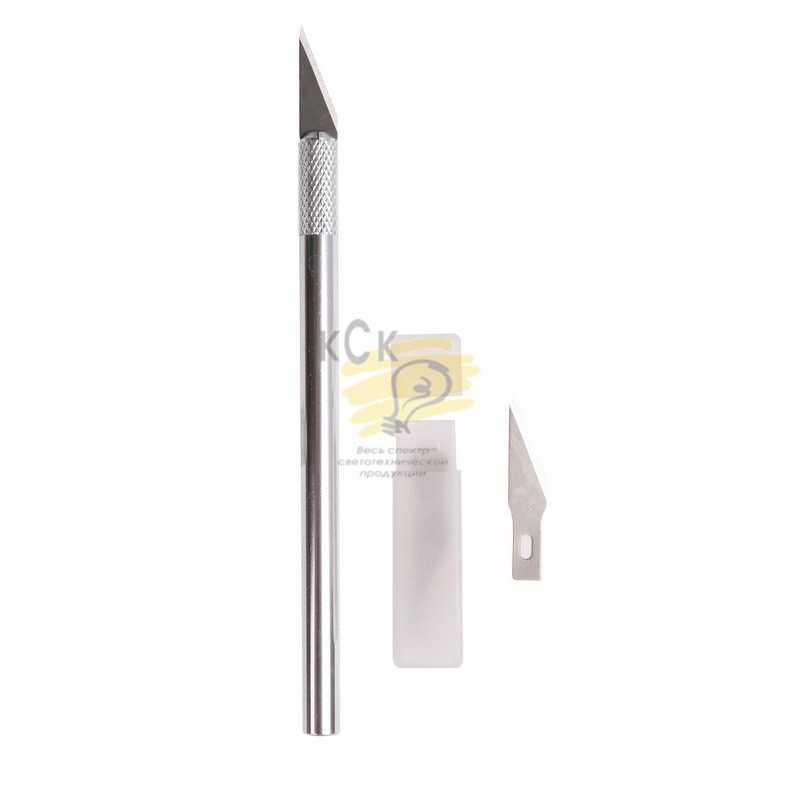 Нож с перовым лезвием ( 5 запасных лезвий) Rexant