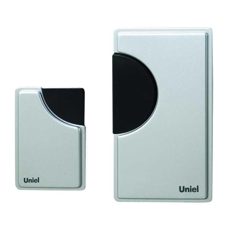 Звонок беспроводной UDB-002W-R1T1-32S-100M-SL  32 мелодии, 100м, цвет серый, упак. блистер