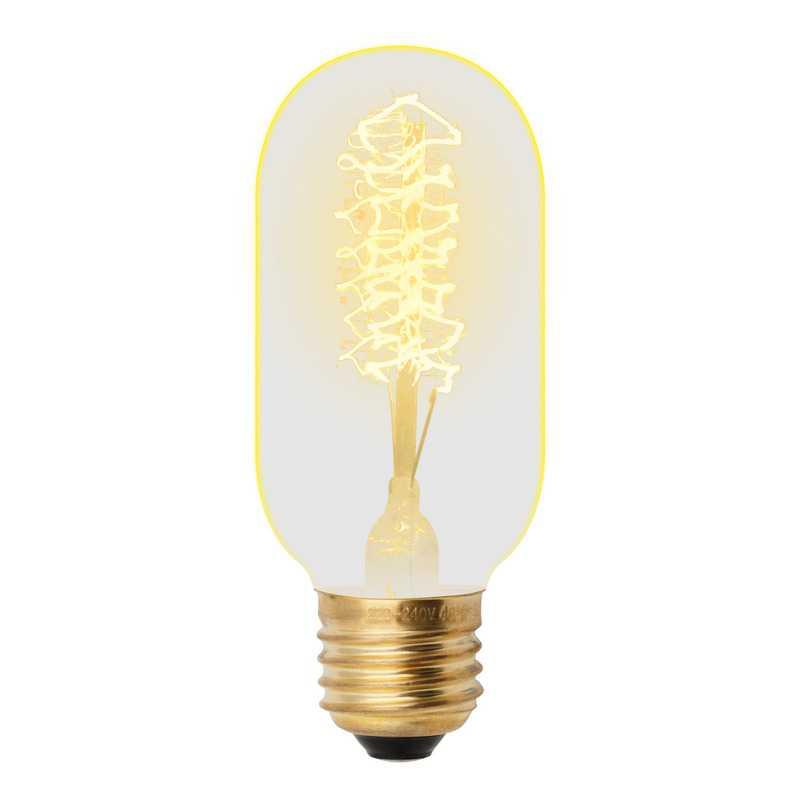 IL-V-L45A-40/GOLDEN/E27 CW01 Лампа накаливания Vintage. Форма «цилиндр», длина 113мм. Форма нити CW