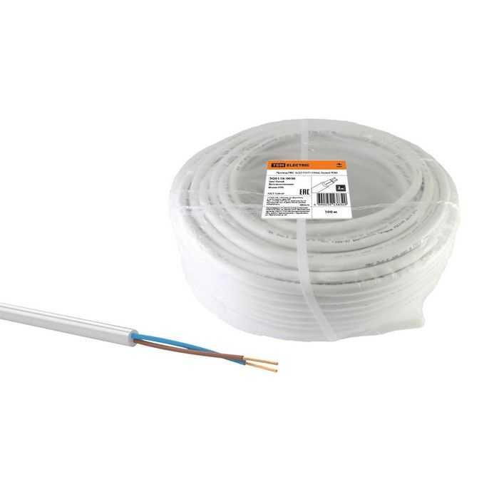 Провод ПВС 2х2,5 ГОСТ (100м), белый TDM