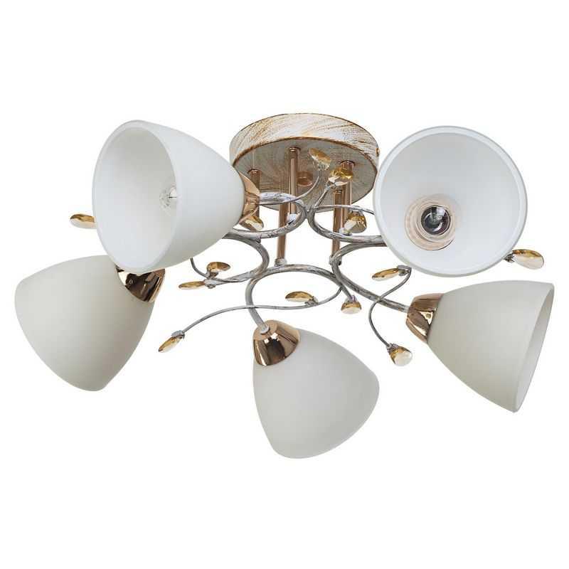 Потолочный светильник 7481/5WT+GD WT