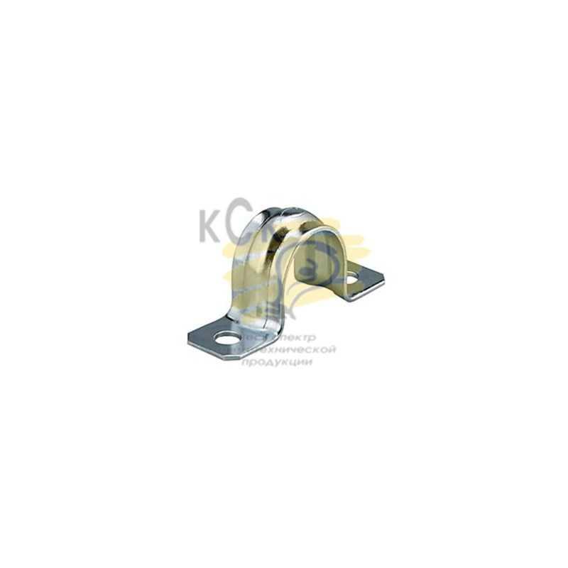 Скоба для металлорукава o15 мм, двухлапковая СМД 19-20, (100 шт/уп.)