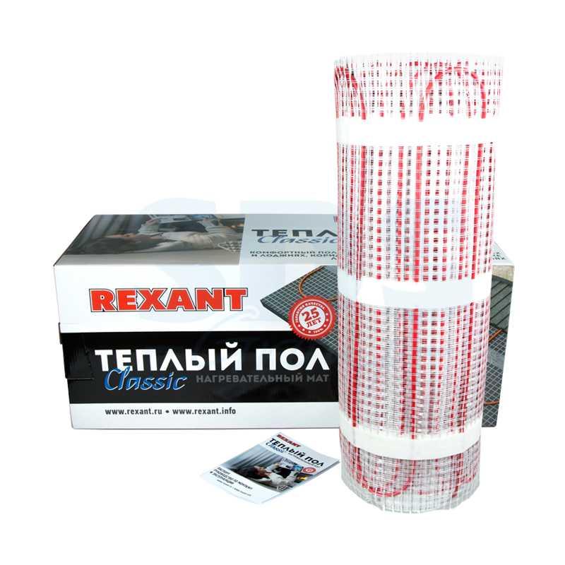 51-0514-2 Тёплый пол (нагревательный мат) REXANT Classic RNX -8,0-1200 (площадь 8,0 м2 (0,5 х 16,0 м)), 1200 Вт, двухжильный с экраном электропродукция оптом, и розницу купить в Крыму, Симферополе, Севастополе магазин КСК, электрика в крыму