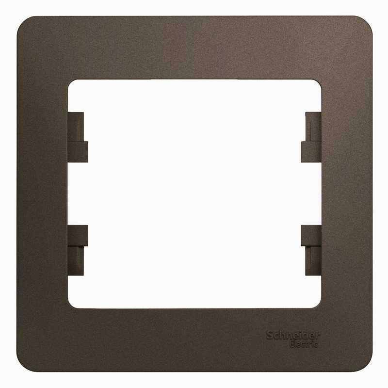 GSL000801 Рамка 1-пост. шоколад Glossa Schneider Electric электропродукция оптом, и розницу купить в Крыму, Симферополе, Севастополе магазин КСК, электрика в крыму
