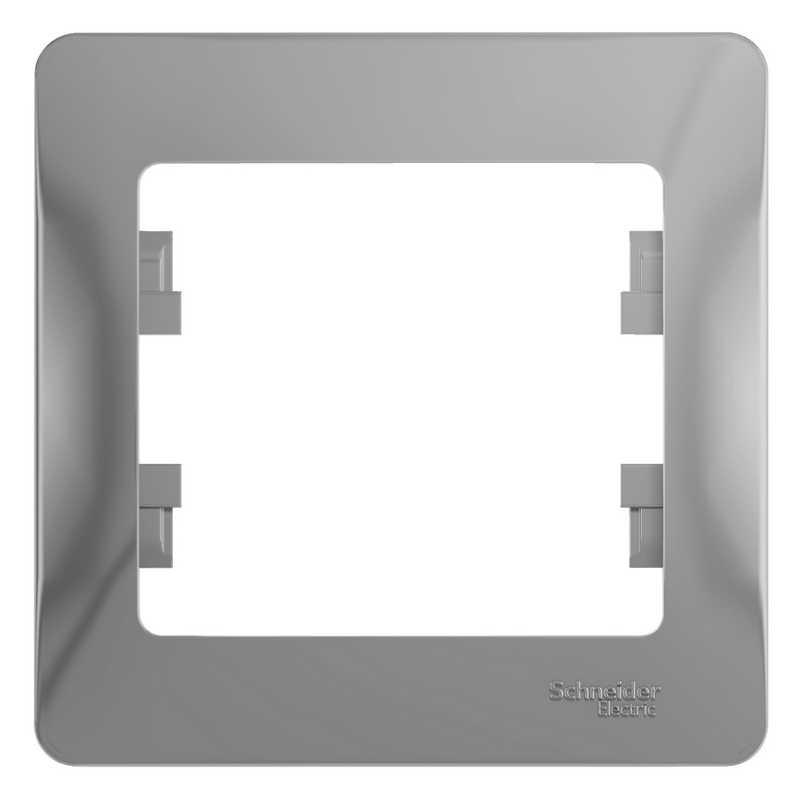 GSL000301 Рамка 1-постовая  алюминий Glossa Schneider Electric электропродукция оптом, и розницу купить в Крыму, Симферополе, Севастополе магазин КСК, электрика в крыму