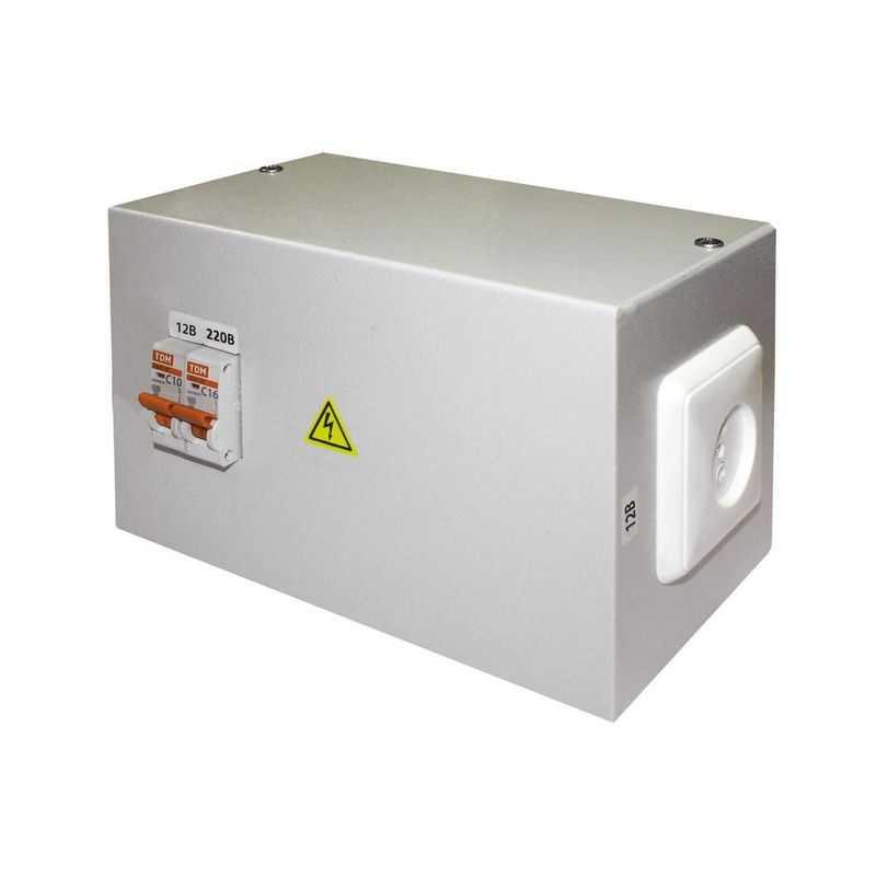 Ящик с трансформатором понижающим ЯТП-0,25 220/12-2авт. TDM