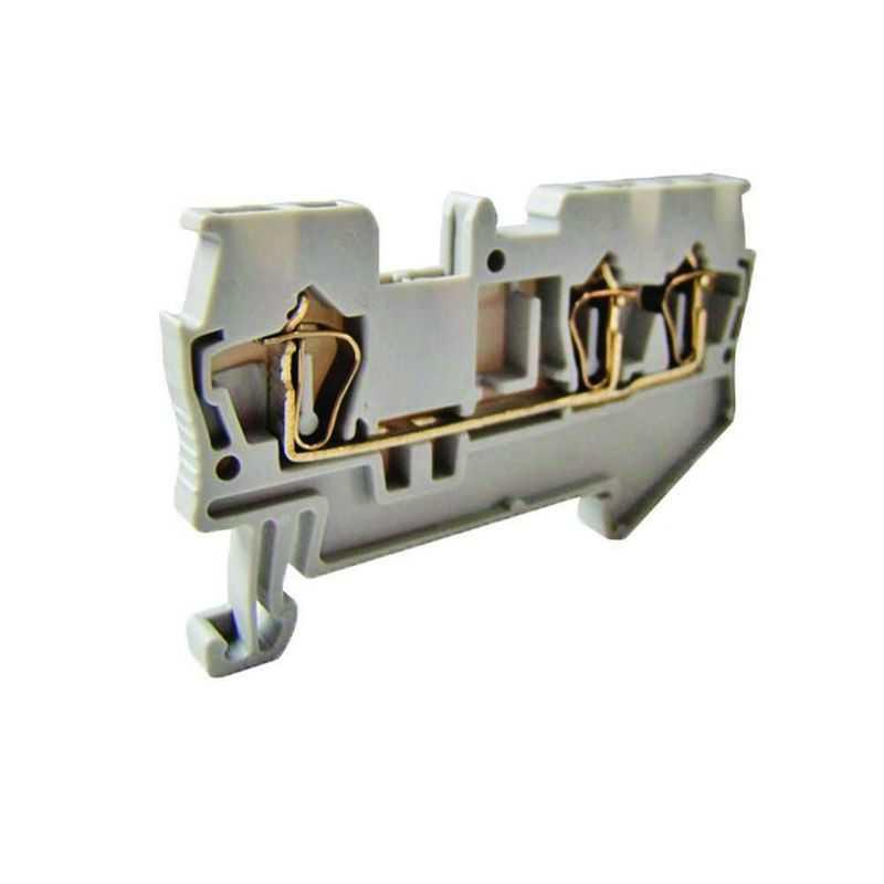 Зажим клеммный безвинтовой (ЗКБ) 4 мм2 40А серый TDM