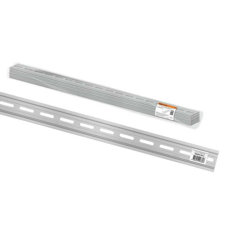 DIN-рейка алюминиевая усиленная перфорированная 35х7,5х1,5х1000мм TDM