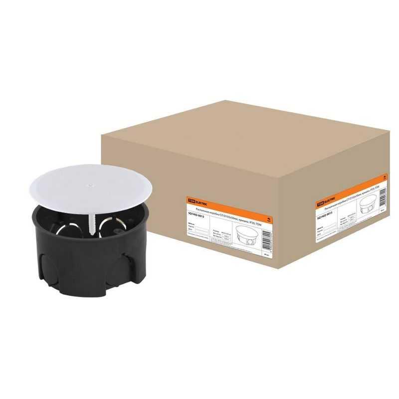 Распаячная коробка СП D103х50мм, крышка, IP20, TDM