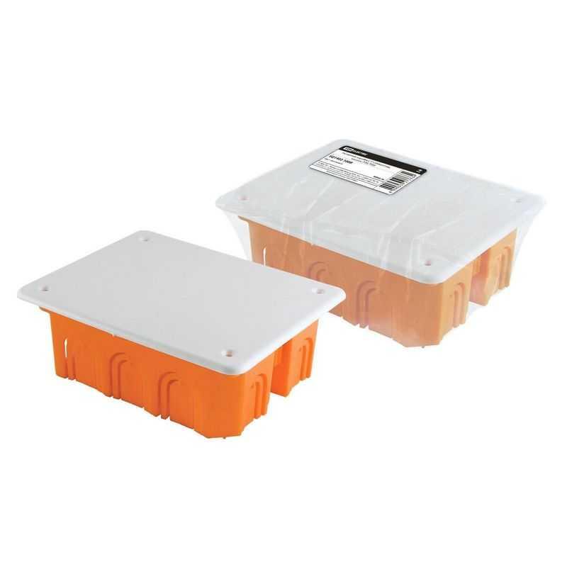 Распаячная коробка СП 120х92х45мм, крышка, IP20, TDM