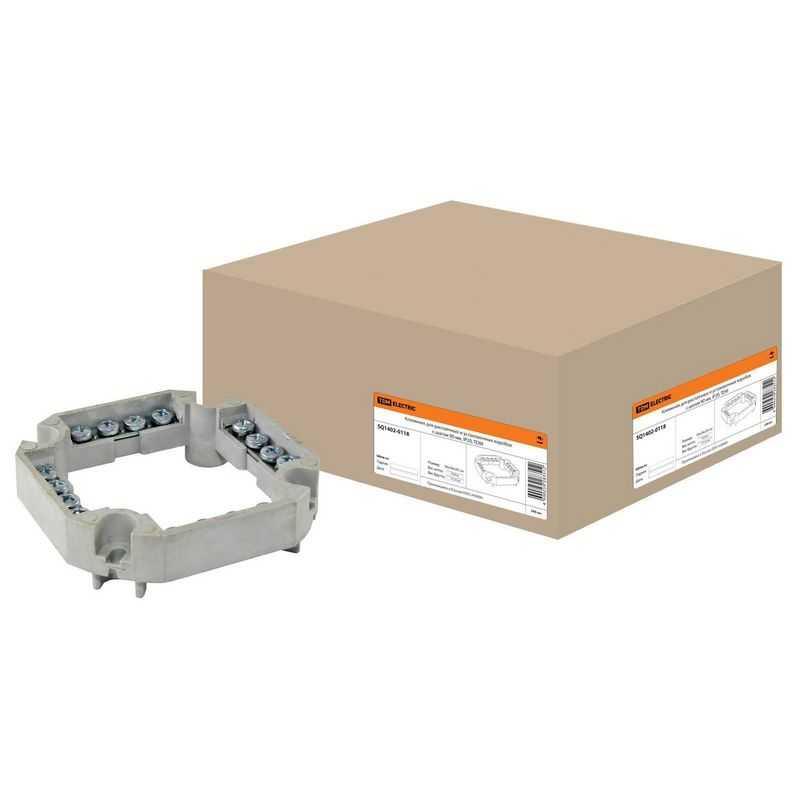Клеммник для распаячных и установочных коробок с шагом 90мм, IP20, TDM