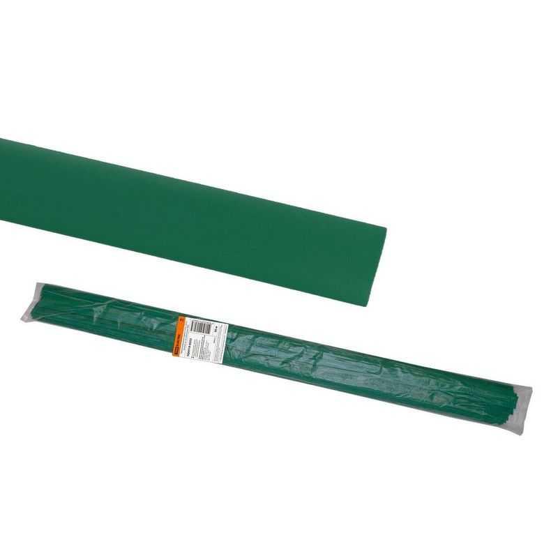 Термоусаживаемая трубка ТУТнг 20/10 зеленая по 1м (50 м/упак) TDM