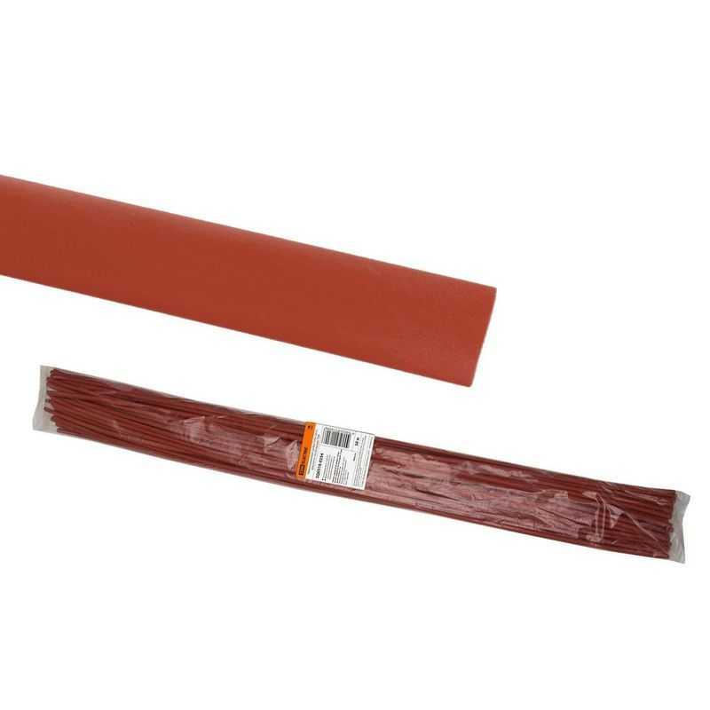 Термоусаживаемая трубка ТУТнг 20/10 красная по 1м (50 м/упак) TDM