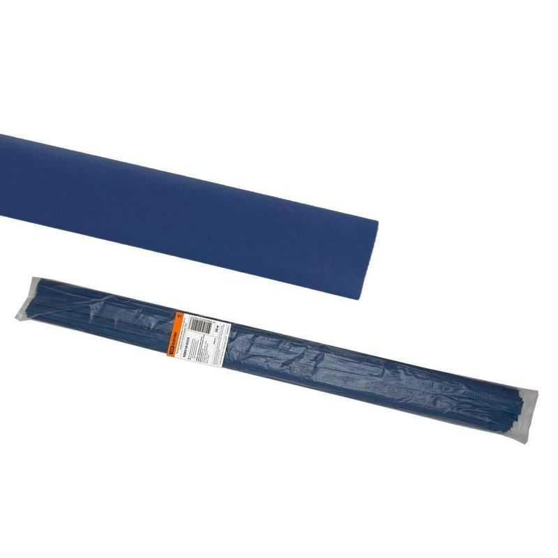 Термоусаживаемая трубка ТУТнг 20/10 синяя по 1м (50 м/упак) TDM