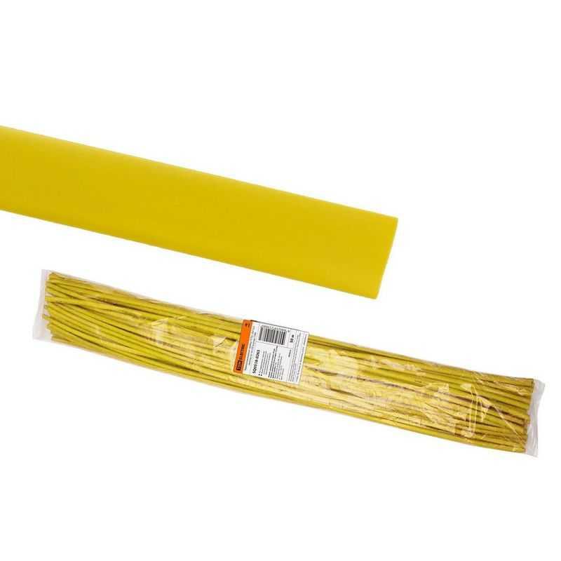 Термоусаживаемая трубка ТУТнг 25/12,5 желтая по 1м (50 м/упак) TDM