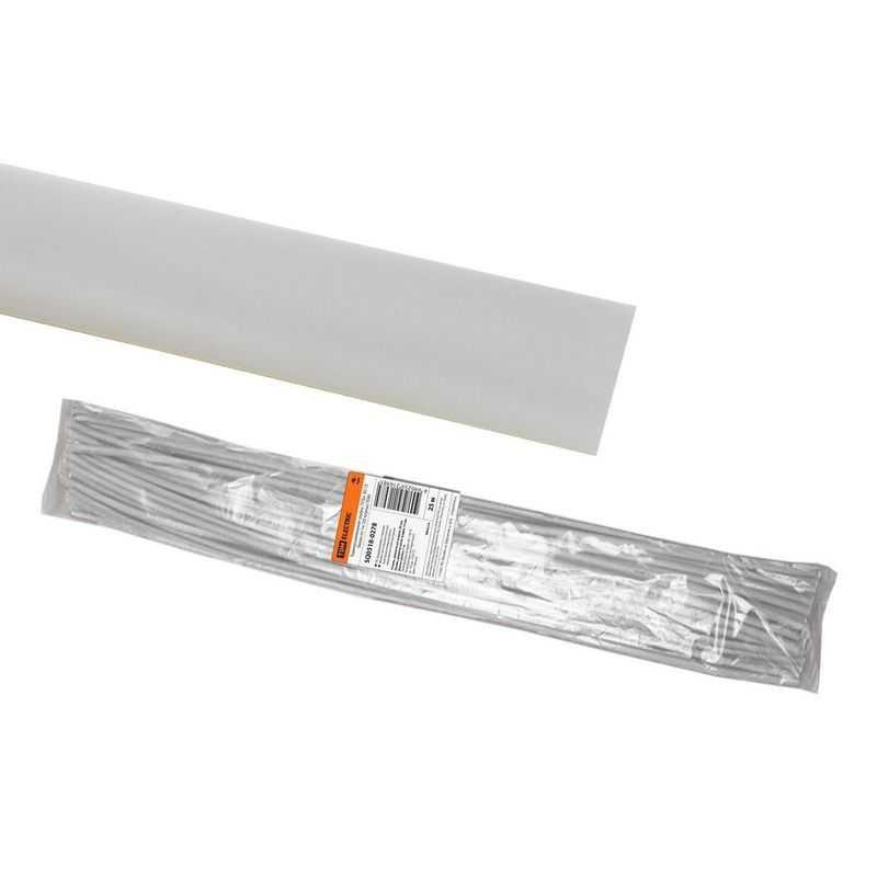 Термоусаживаемая трубка ТУТнг 30/15 белая по 1м (25 м/упак) TDM