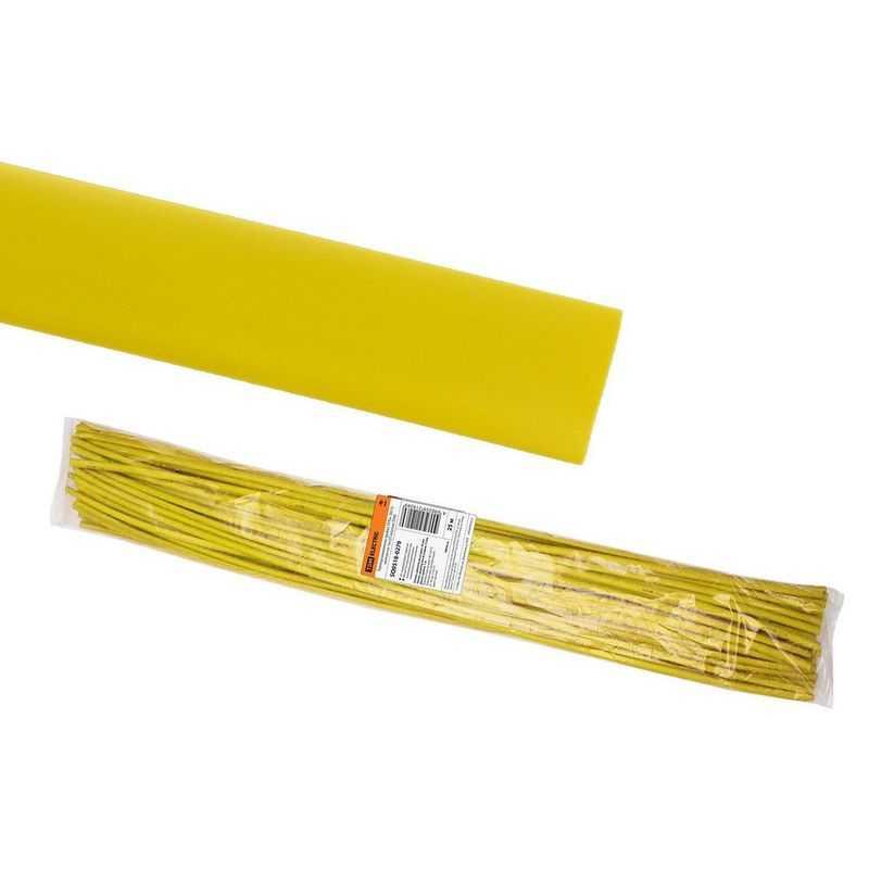 SQ0518-0279 Термоусаживаемая трубка ТУТнг 30/15 желтая по 1м (25 м/упак) TDM электропродукция оптом, и розницу купить в Крыму, Симферополе, Севастополе магазин КСК