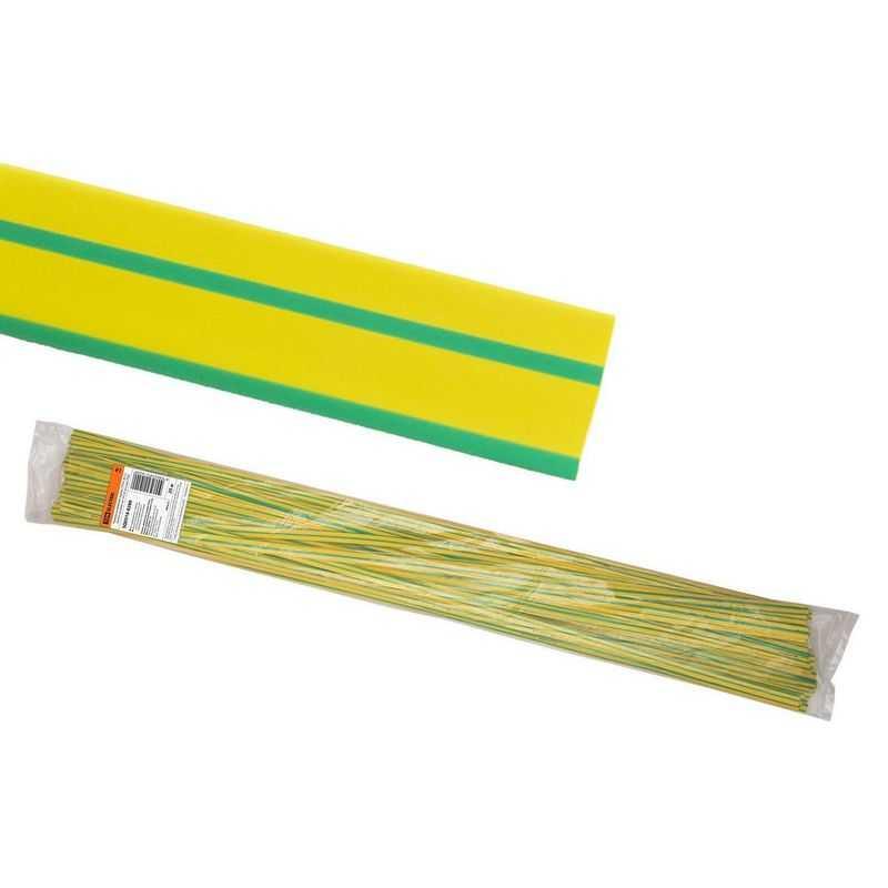 SQ0518-0280 Термоусаживаемая трубка ТУТнг 30/15 желто-зеленая по 1м (25 м/упак) TDM электропродукция оптом, и розницу купить в Крыму, Симферополе, Севастополе магазин КСК